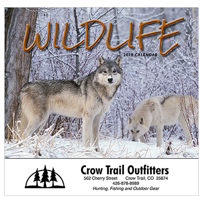 wildlife wall calendar - stapled