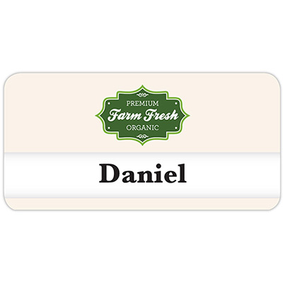 orlando reusable name badge