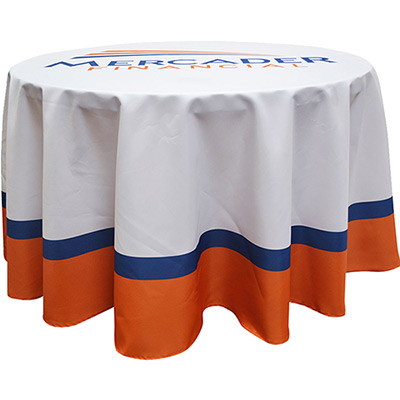 3 diameter round table cover - full color