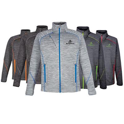 north end® sport mens red flux fleece jacket