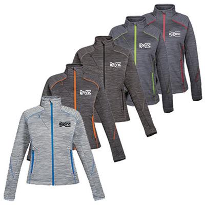 north end® sport womens red flux fleece jacket