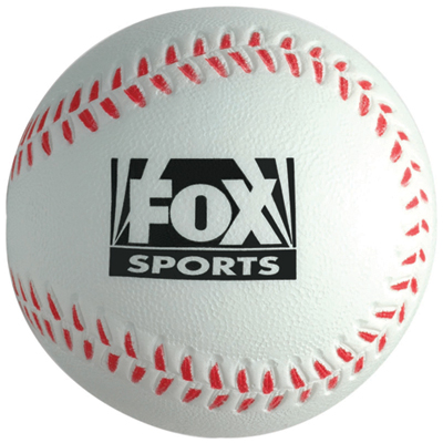 baseball shape stress ball