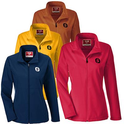 team 365® ladies leader soft shell jackets