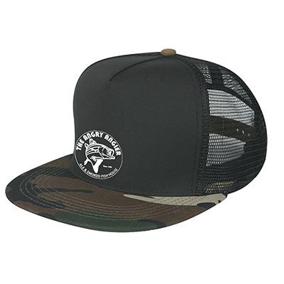 camo flatbill cap  (transfer print)