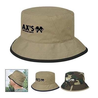 cotton twill bucket hat - embroidered