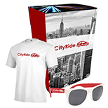 26573 - Delta® T-Shirt & Sunglasses With Combo Set With Custom Box