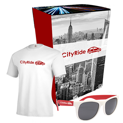 delta® t-shirt & sunglasses with combo set with custom box