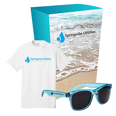 port & company® t-shirt and sunglasses combo set