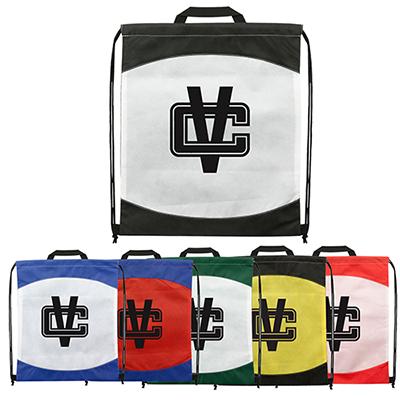 spirit two-tone drawstring backpack