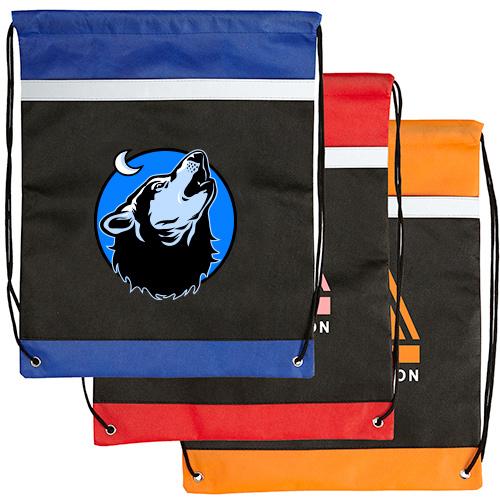 Nightfall Reflective Drawstring Backpack (Full Color)