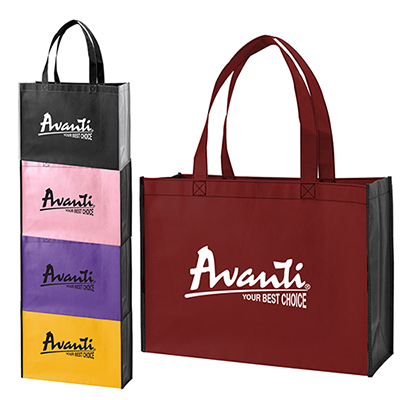 Two-Tone Shopping Tote Bag