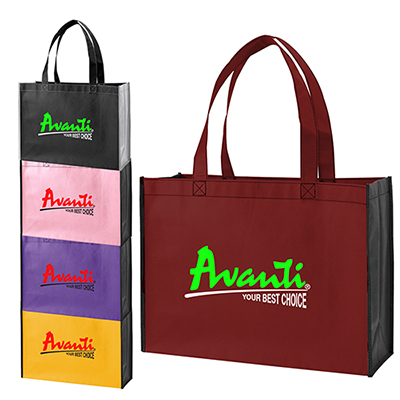 Two-Tone Shopping Tote Bag - Full Color
