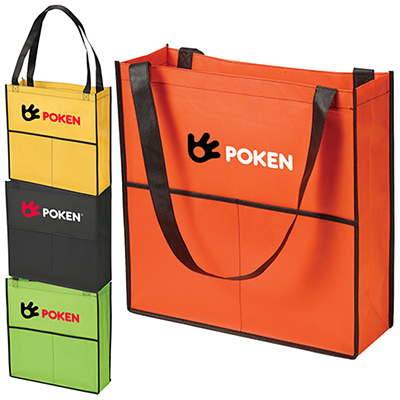 glendale 2 pocket tote bag - full color