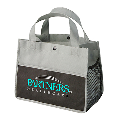 mini snap lunch tote - full color