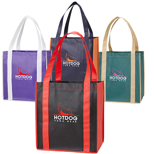 color combination grocery tote - full color