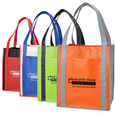 Large Grocery Tote with Pocket