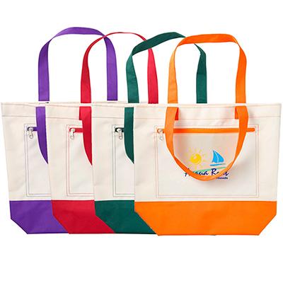 marina boat tote bag - full color