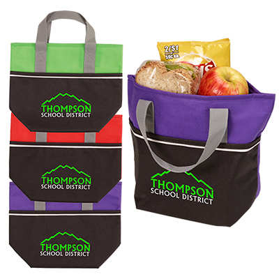 Non-Woven Carry-It Cooler Tote - Full Color