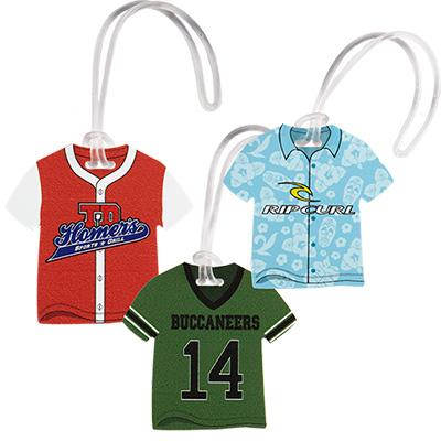hawaiian shirt/jersey luggage tag