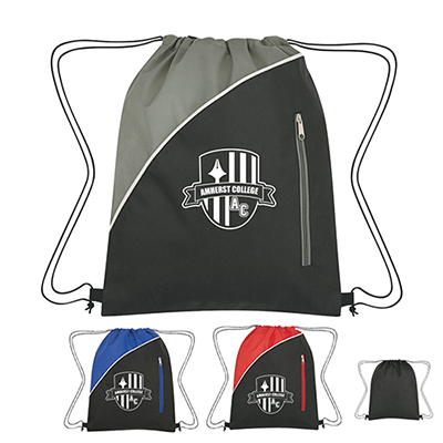 non-woven peyton sports pack with zip