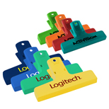 Logo Bag Clips, Printed Bag Clips, Custom Imprinted Bag Clips
