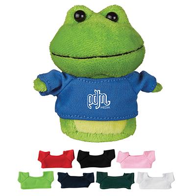 4 mini plush buddies frog