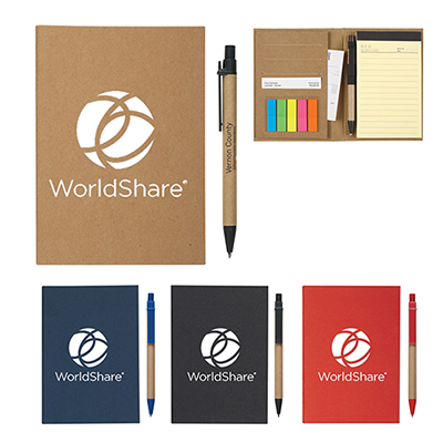 meetingmate notebook with pen & sticky flags