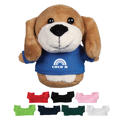 4 mini plush buddies dog