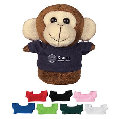 4 mini plush buddies monkey