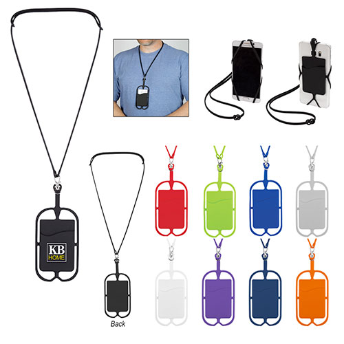 silicone lanyard with phone holder