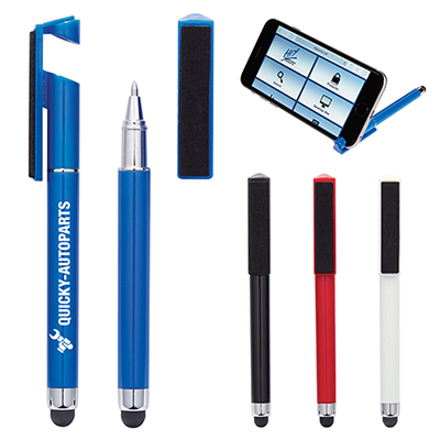 Stylus Pen with Phone Stand & Screen Cleaner