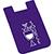 Dual Pocket Slim Silicone Phone Wallet purple 27006