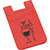 Dual Pocket Slim Silicone Phone Wallet red 27006