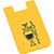 Dual Pocket Slim Silicone Phone Wallet yellow 27006