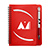 Huntington Notebook With Pen red 27114