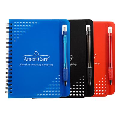 5 x 7 havana notebook with pen