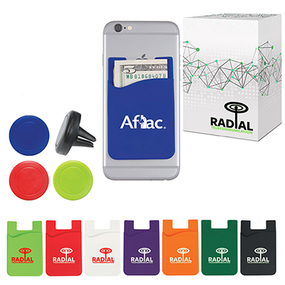 auto air vent magnetic phone wallet with custom box