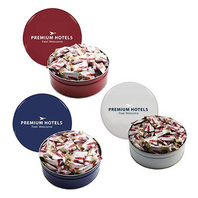 royal tin with individual mints
