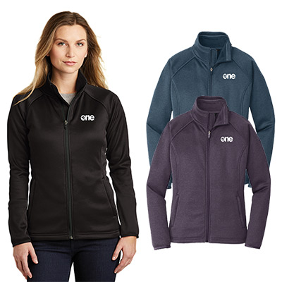 6a0d23e9bd5a Generate lasting impressions with this promotional North Face Ladies Canyon  Flats Stretch Fleece Jacket