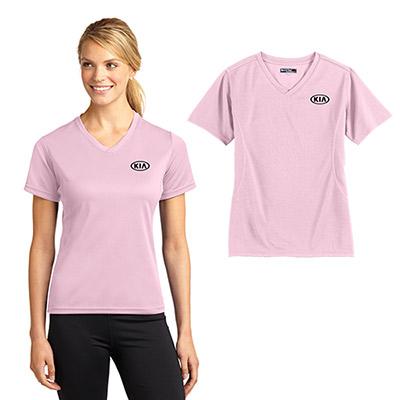 sport-tek dri-mesh ladies v-neck t-shirt
