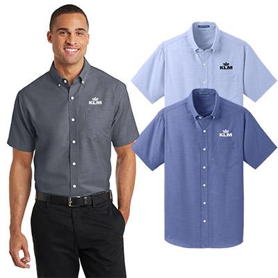 port authority®short sleeve superpro™oxford shirt
