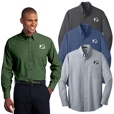 port authority® tall crosshatch easy care shirt