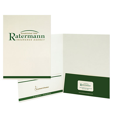 printed economy folder - 2 color imprint