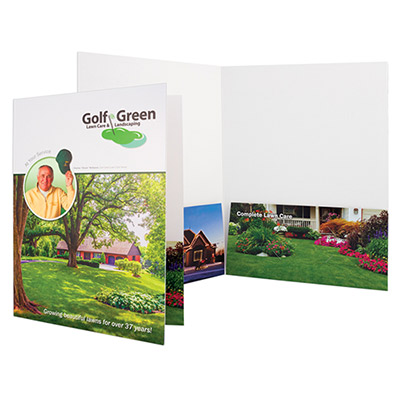 9 x 12 two pocket folder - full color