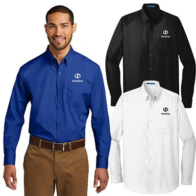 port authority®tall long sleeve carefree poplin shirt