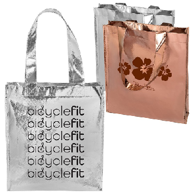 819572afd1dba Metallic gift tote with your logo - Promo Direct