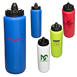 27443 - 34 oz. Budget Squeezable Water Bottle