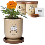 27467 - Goofy Group™ Grow Pot Eco-Planter with Marigold Seeds
