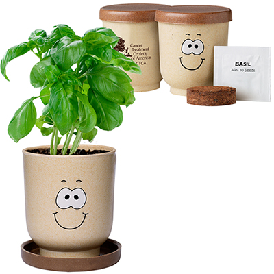 goofy group™ grow pot eco-planter with basil seeds seeds