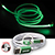 3 in 1 El Lighted Charging Cable green 27477